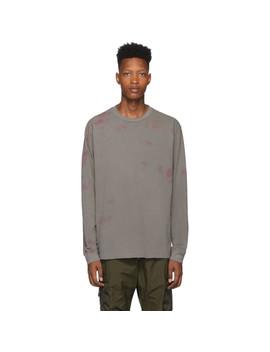 Grey & Pink University Long Sleeve T Shirt by John Elliott