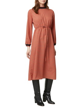 Caprice Drape Long Sleeve Midi Dress by French Connection