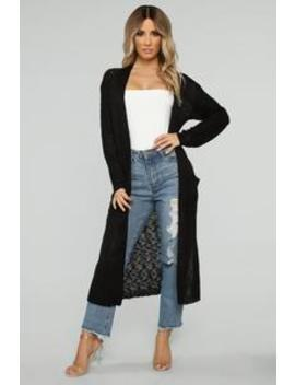 Stay With Me Cardigan   Black by Fashion Nova
