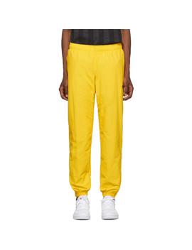 Yellow Vector Track Pants by Reebok Classics