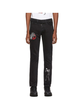 Black Undercover Edition Cutted Slim 5 Pocket Jeans by Off White