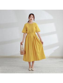 New Design Half Sleeves Cotton Dress Soft Long Robes Casaul Loose Summer Midi Dresses Customized Plus Size Clothing Linen by Etsy