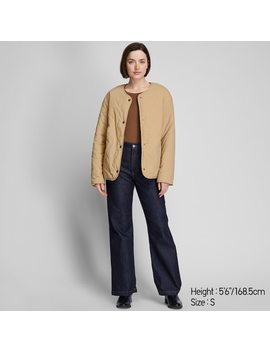 Women Pile Lined Fleece Quilted Reversible Jacket by Uniqlo