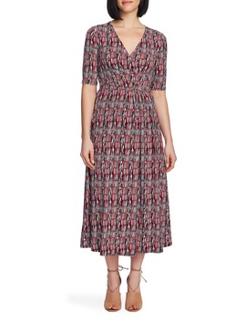 Sahara Sunrise Faux Wrap Dress by Chaus