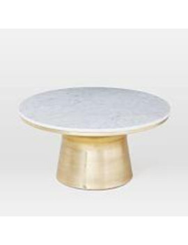 Marble Topped Pedestal Coffee Table by West Elm