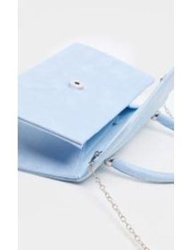 Pastel Blue Faux Suede Envelope Grab Bag by Prettylittlething
