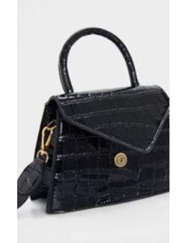 Black Trapeze Shape Cross Body Bag by Prettylittlething