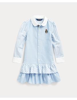 Bear Striped Cotton Shirtdress by Ralph Lauren