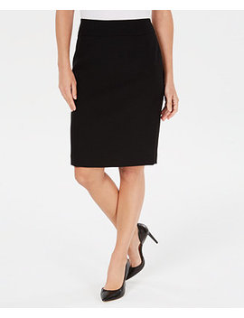 Textured Piqué Pencil Skirt by General