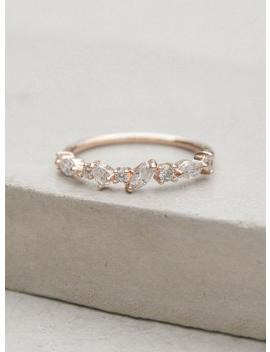 Cluster Ring   Rose Gold | Petite, Dainty Ultra Thin Stacking Ring With Cz Stones   Rose Gold | Promise Ring | Wedding Ring | R1057 R by Etsy