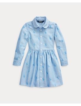 Pony Cotton Shirtdress by Ralph Lauren