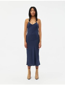 Morgan Cami Slip Dress In Navy by Stelen Stelen