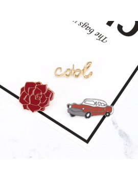 Fashion Enamel Pin Letters Red Car Flower Cool Brooch Pins Hat Jacket Shirt Cartoon Brooches For Women Jewelry Gift by Ali Express.Com