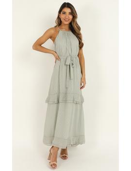 Highest Of Class Dress In Sage by Showpo Fashion