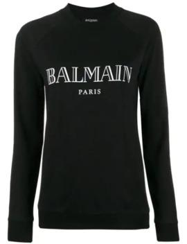 Vintage Logo Print Sweatshirt by Balmain