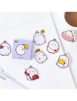 1 Box Cute Molang Mini Decorative Stickers Scrapbooking Diy Diary Album Stick Label Decor Student Supply by Ali Express.Com