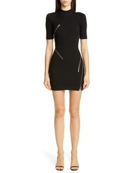 Travelling Zipper Body Con Minidress by Alexander Wang