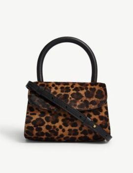 Leopard Print Mini Leather Bag by By Far