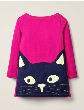 Glow In The Dark Cat Tunic   Pink Yarrow Cat by Boden