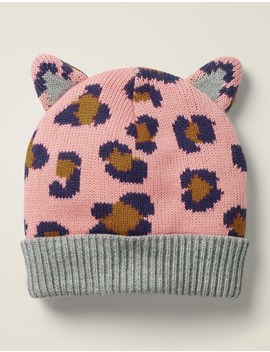 Leopard Hat   Chalky Pink Leopard by Boden