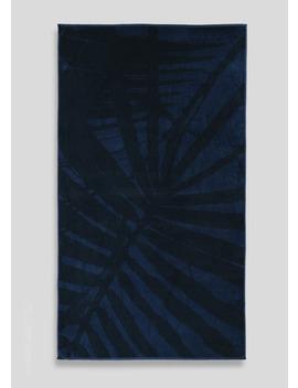 Palm Print Towel (75cm X 150cm) by Matalan