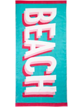 Rainbow Striped Beach Towel by Asda