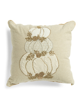 20x20 Stacked 3 Pumpkins Pillow by Tj Maxx