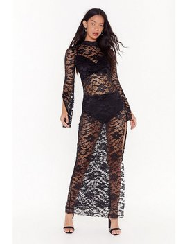 Take My Lace High Neck Maxi Dress by Nasty Gal
