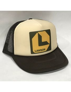 Lawson Supply L Logo Trucker Hat! Vintage 80's Style Brown Mesh Snapback Cap! by Unbranded