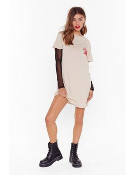 Callin' All Tainted Souls Graphic Tee Dress by Nasty Gal