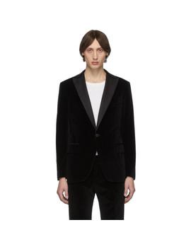 Black Velvet Tuxedo Blazer by Eidos