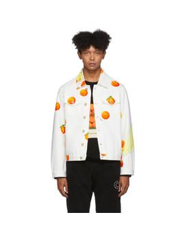 White Denim Encore 'les Oranges' Jacket by Casablanca