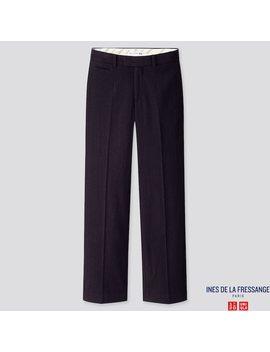 Pantaloni Ines Soft Tweed A Campana Donna by Uniqlo