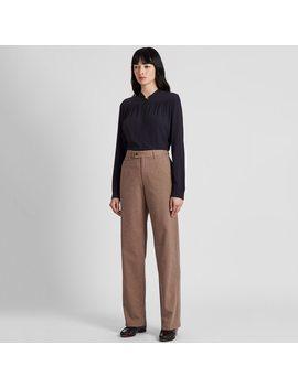 Pantaloni Ines Cotone A Quadri A Campana Donna by Uniqlo