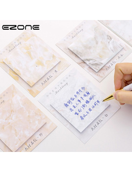 Ezone Marbling Sticky Note Marble Printed Memo Pad For Planner Agend Self Adhesive Square Papers Bookmark Student Stationery by Ali Express.Com