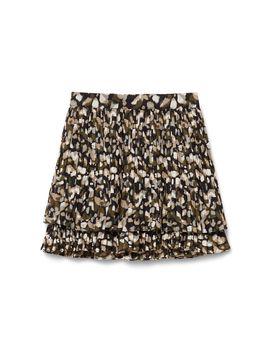 Printed Plisse Skirt by Cotton Club