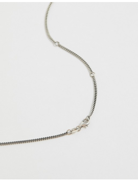 Serge De Nimes Neck Chain With Pendant In Silver by Serge De Nimes
