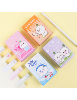 Grass Lovely Cute 6 Folding Memo Pad N Times Sticky Notes Memo Notepad Bookmark Gift Stationery by Ali Express.Com