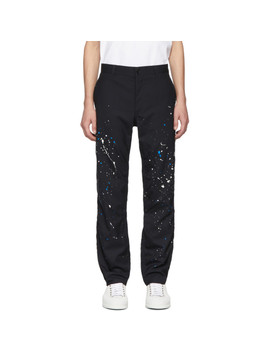 Black Paint Splatter Trousers by Comme Des GarÇons Homme
