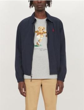 Bear Print Slim Fit Cotton T Shirt by Polo Ralph Lauren