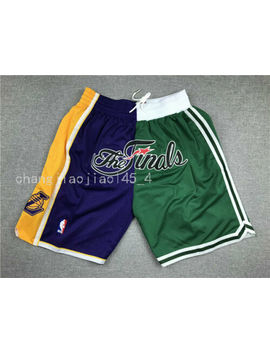 Boston Celtics Los Angeles Lakers Finals Just Don Splice Basketball Pants Shorts by Brand New