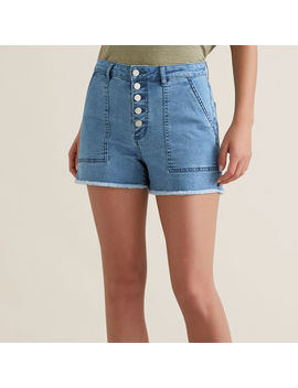 Button Through Denim Short by Seed Heritage