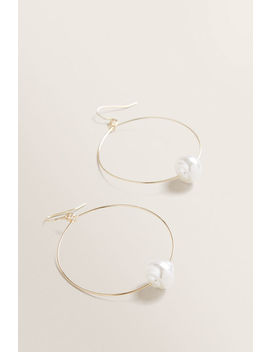 Oct Simple Pearl Hoop by Seed Heritage