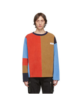 Multicolor Corduory Patch Crewneck Sweater by Kenzo