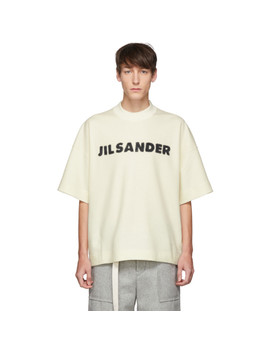 Off White Wool Boxy T Shirt by Jil Sander