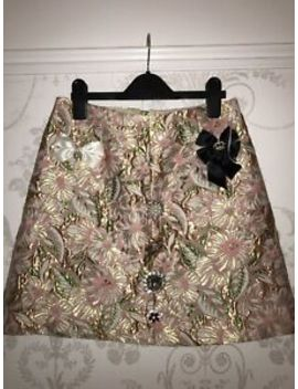 River Island Size 8 Embellished Pink And Gold Skirt by Ebay Seller