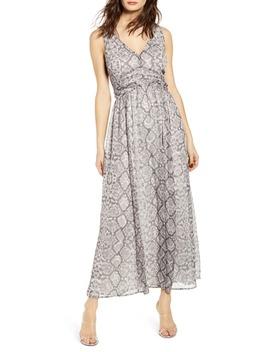 Ruched Waist Chiffon Maxi Dress by Leith