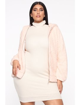 Chilly Vibes Sherpa Jacket   Pink by Fashion Nova