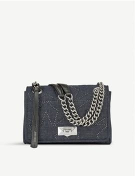 Helia Denim Shoulder Bag by Jimmy Choo