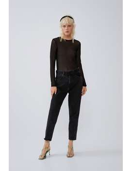T Shirt En Tulle Manches Longues T Shirts Trf by Zara